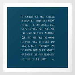 Dumbledore wise quotes Kunstdrucke