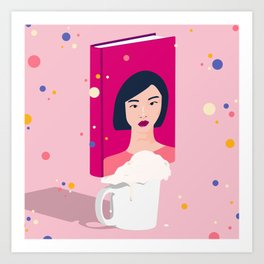 I'm just a typical asian girl sipping on my Caramel Macchiato Art Print