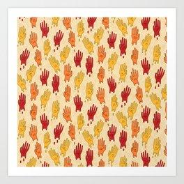 Zodiac Hands IV Art Print