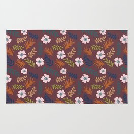 Fall In Tropic - granate background Rug