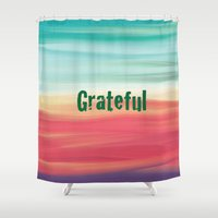 grateful dead Shower Curtains featuring grateful by Art By Anne Manera