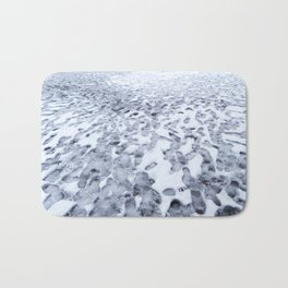 Footprints in the Melting Snow at Whistler Bath Mat