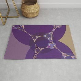 addison - royal purple shades grape heather pale gold abstract Rug