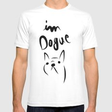 dogue french bulldog Mens Fitted Tee MEDIUM White