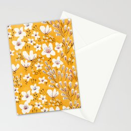 Yellow Meadow of Flowers Stationery Cards