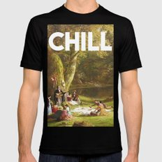 Chill LARGE Mens Fitted Tee Black