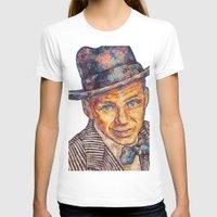frank sinatra T-shirts featuring Frank Sinatra  by Sara Elyse Lehtman