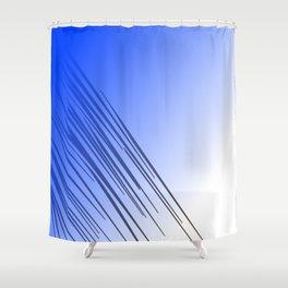 jungle wild design lines ethnic jpg    BLUE Shower Curtain