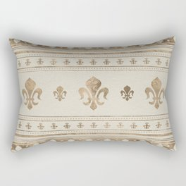 Fleur-de-lis Pastel Gold Rectangular Pillow