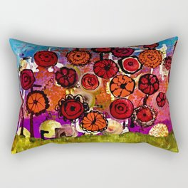 Bloomin Chaos Rectangular Pillow