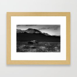 Death Valley Shack Framed Art Print