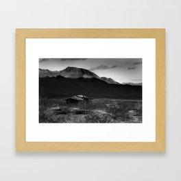 Death Valley Shack Framed Art Print