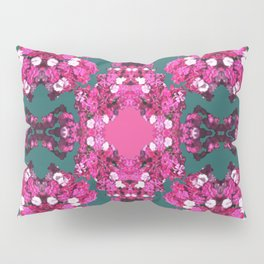 Bejeweled Floral Fuchsia Pillow Sham