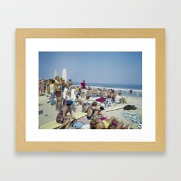 1970's Surfing Competition in Virginia Beach, VA Framed Art Print