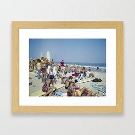 1970's Surfing Competition in Virginia Beach, VA Framed Art Print
