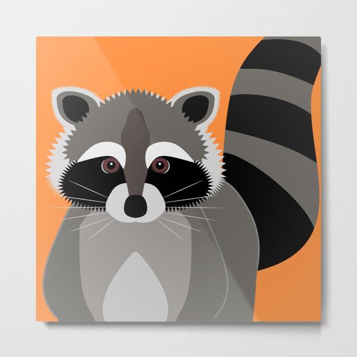 Raccoon Mischief Metal Print