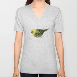 Mr Mohua , yellowhead New Zealand native bird Unisex V-Neck