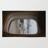 airplane Area & Throw Rugs featuring Airplane window by RMK Photography