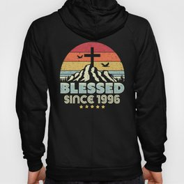 Blessed Since 1996 Design. Vintage, Christian Birthday Gift Product Hoody