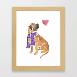 Watercolour Bullmastiff Framed Art Print