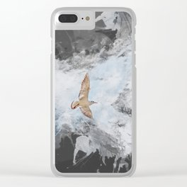 Two seagulls. Clear iPhone Case