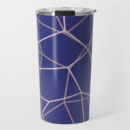 Blue Purple Geometric Architectural Pattern Travel Mug