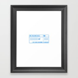 Boarding Pass by Worldwide Framed Art Print