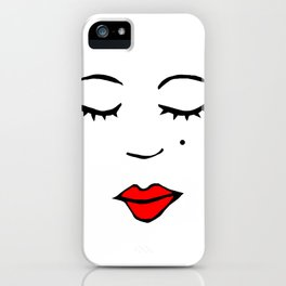 Style Girl - Face - Doodle Art iPhone Case