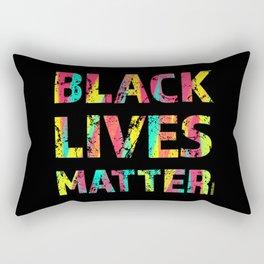 Black Lives Matter Colorful Painting 01 Rectangular Pillow