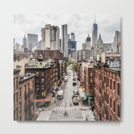 USA Photography - Chinatown In New York City Metal Print