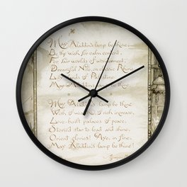 Christmas and birthday cards with poems by Joaquin Miller from Aladdins Lamp by Joaquin Millers poem Wall Clock