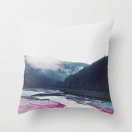 Low Tide in the Valley Throw Pillow