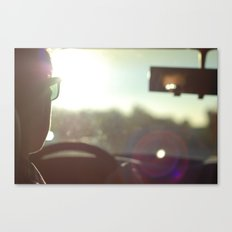 Driving Into the Sun Canvas Print