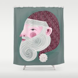 Kris Kringle Shower Curtain