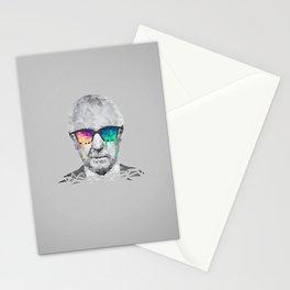 Albert Hofmann - Psychedelic Polygon Low Poly Portrait Stationery Cards