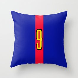 football team 1 number nine Throw Pillow