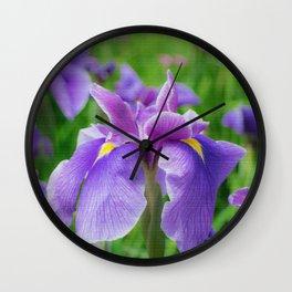 Japanese iris, hanasyobu Wall Clock