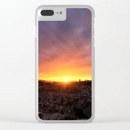 Jerusalem Sunset Clear iPhone Case