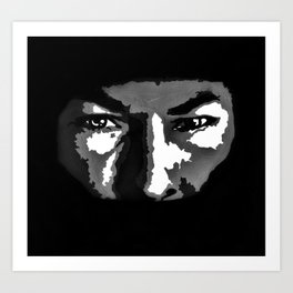 RIP Nicky Hayden 69 - black and white helmet portrait popart Art Print