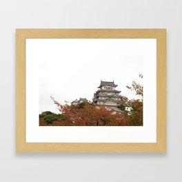 Himeji Castle in Autumn Framed Art Print