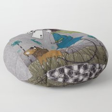 I Follow the Wind Floor Pillow