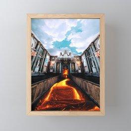 The Floor Is Lava, Pt. 1 Framed Mini Art Print