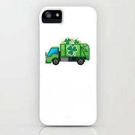 Clover Truck St Patricks Day Full Green Shamrock iPhone Case