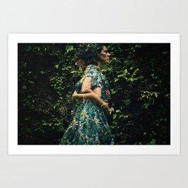 Fade in to green II Art Print
