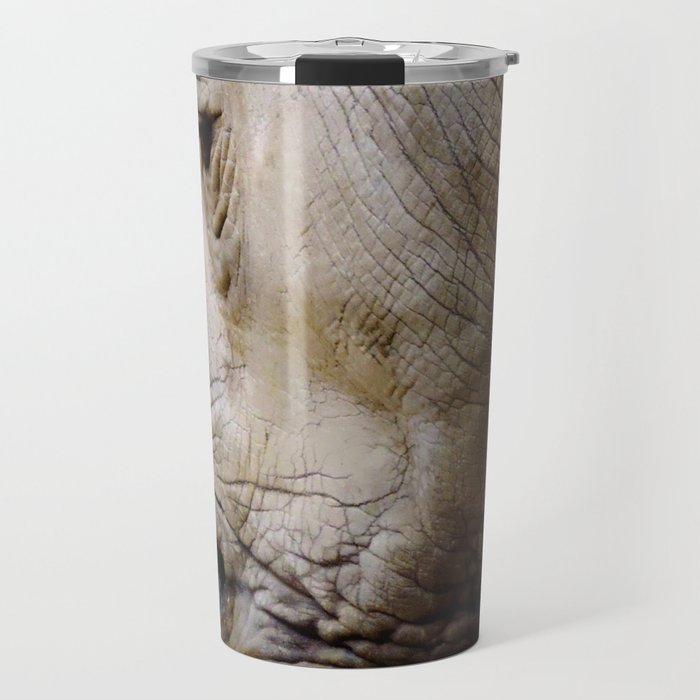 Close Up Rhinos Travel Mug