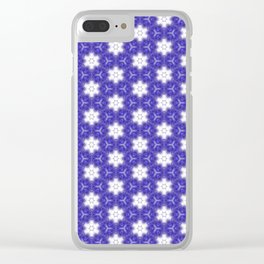 Purple Passion Pattern 9 Clear iPhone Case