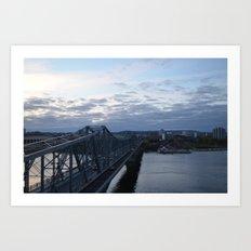 bridge to quebec Art Print
