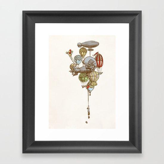 The Great Balloon Adventure Framed Art Print