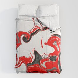 contradiction abstract digital painting Comforters