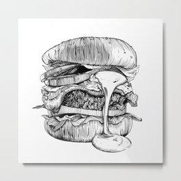 Mac'n ink Burger Metal Print